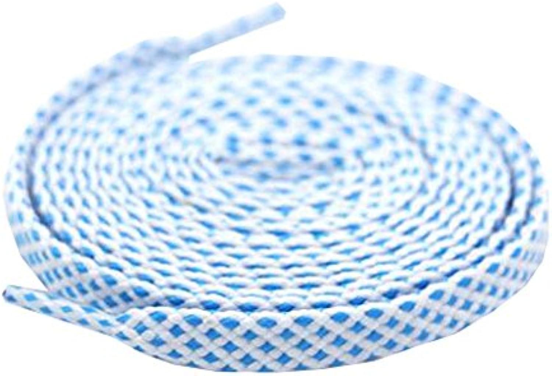 Unisex bunte flache Schnürsenkel für Turnschuhe und Schuhe 120cm Länge 0 8 cm breit  d