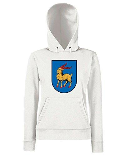 T-Shirtshock - Sweats a capuche Femme TM0100 istria coat citta Blanc