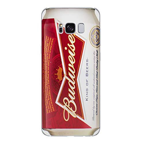Bier Telefon Hülle/Case für Samsung Galaxy S8 (G950) mit Displayschutzfolie/Silikon Weiches Gel/TPU / iCHOOSE/Budweiser