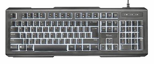 Beleuchtete Multimedia-tastatur (Trust Lito Beleuchtete Tastatur (Multimedia, USB-kabelgebunden, Deutsches-Layout QWERTZ) schwarz)