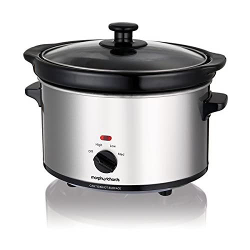 411CmsF8twL. SS500  - Morphy Richards Ceramic Slow Cooker 2.5L 460251 Silver Slowcooker