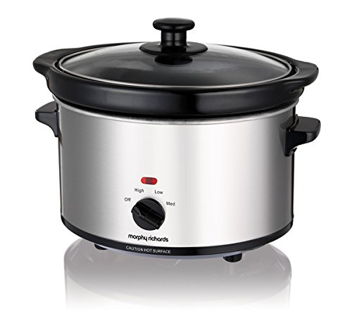 411CmsF8twL - Morphy Richards Ceramic Slow Cooker 2.5L 460251 Silver Slowcooker