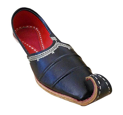 Kalra-Creations-Mens-Traditonal-Indian-Brown-Faux-Leather-Loafer-Flats-UK-85-M