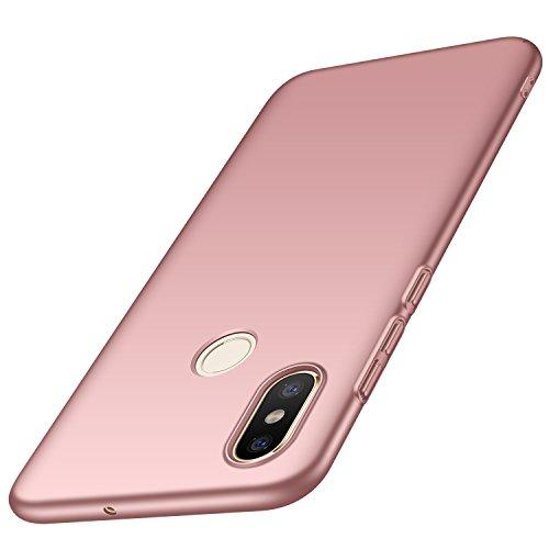 anccer Funda Xiaomi Mi 8 [Serie Colorida] [Ultra-Delgado] [Ligera] Anti-rasguños Estuche para Carcasa Xiaomi Mi 8 (Oro Rosa Liso)