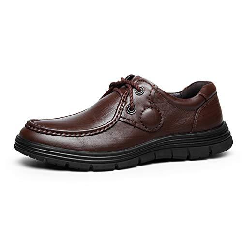 Chaussure de Travail en Cuir Souple de Printemps Automne pour Homme Basse Chaussure de Ville au Loisir Résistant à l'usure