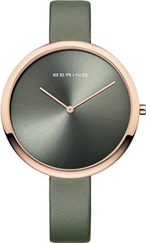 Bering Damen Analog Quarz Uhr mit Leder Armband 12240-667