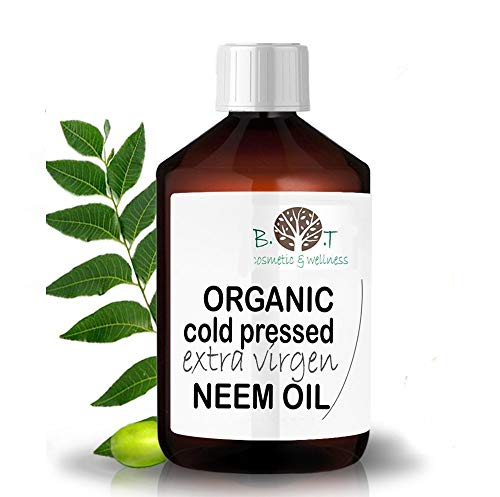 Aceite de Neem Virgen Prensado en Frío Primera Presión 100% Puro BIO Non refinado (100 ml) Azadirachtin 3123.32 ppm.