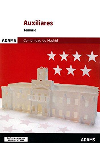 AUXILIARES COMUNIDAD DE MADRID  TEMARIO