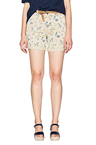 ESPRIT Damen Shorts 067EE1C005, Mehrfarbig (Cream Beige 295), 42
