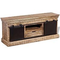 Amazon.fr   meuble tv bois massif - Meubles de rangement   Salon ... 78cd9f3de2c7