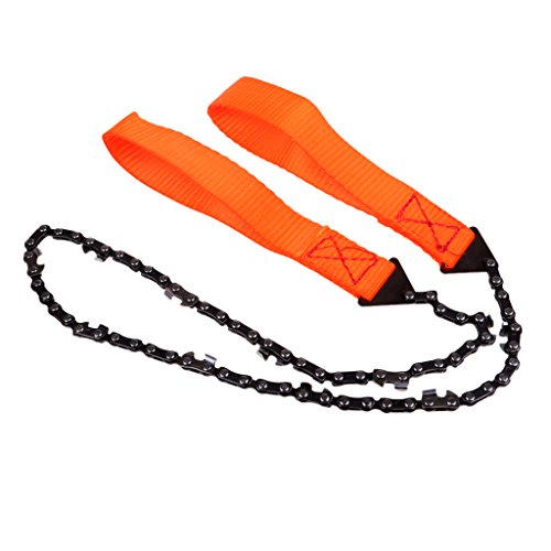 Homyl Hand-Kettensäge, Sägekette, Motorsäge für Survival Camping Outdoor - Orange