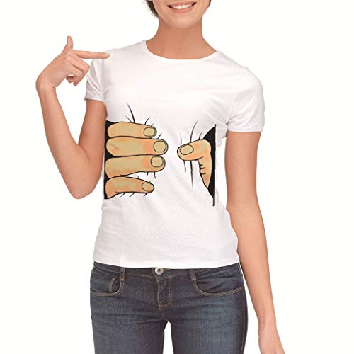 01dd0cf53 Luckycat Camisetas de Mujer de Manga Corta Impresión de Labios Camisa Joker  Informal Creativa Lindo.
