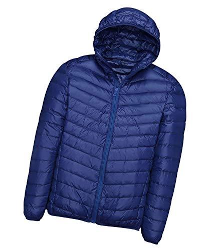 Piumino leggero uomo con cappuccio piumini lunghi giubbotti invernali giacca piumino ultraleggero giubbotto uomo trapuntato invernale cappotto giacche giacconi giacchetto sportivi primaverili zaffiro