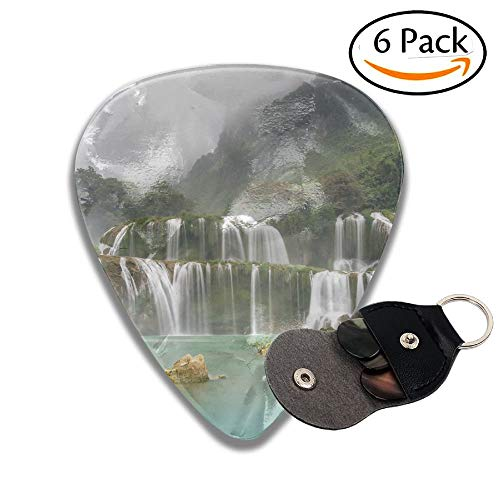 Ban Gioc Waterfall On The Quy Xuan River Is Located In Cao Bang Province Nears The Sino Vietnamese Colorful Celluloid Guitar Picks Plectrums For Guitar Bass 6 Pack.96mm