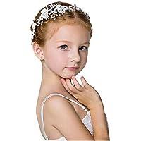Chie no fukuro Fascia Nozze per Capelli con Perline e Strass, Accessori per Capelli da Flower Girl Fascia Argento…