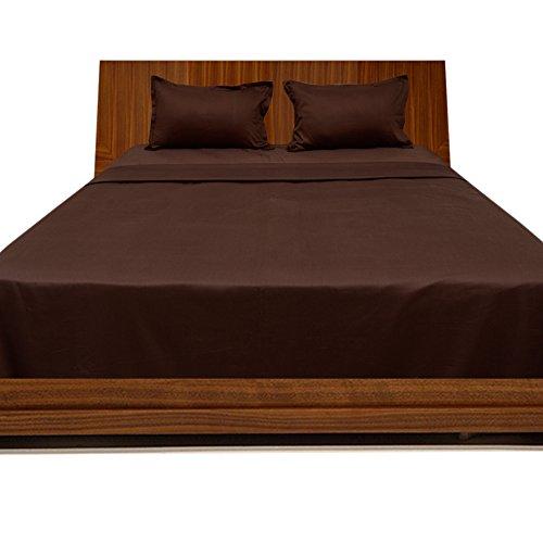 Scala Ägyptische Baumwolle mit Einer Fadenzahl von 300 4pc Plansatz-& 3-teilig Bettwäsche-Set für Doppelbett Chocolate, 100% Baumwolle, 300TC, - 300tc-duvet-set