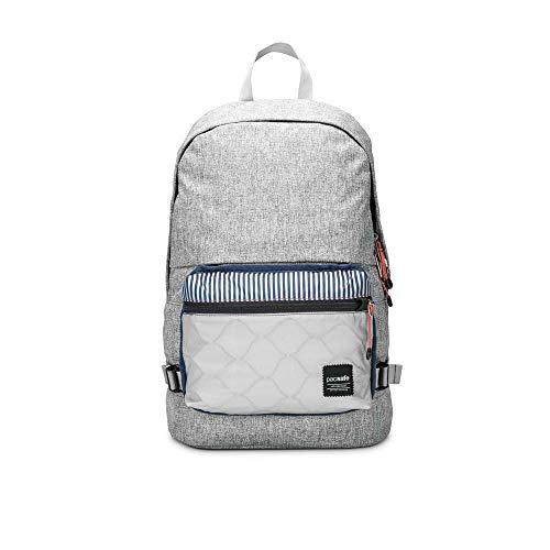 Pacsafe Slingsafe LX400, Anti-Diebstahl Rucksack mit Abnehmbarer Umhängetasche, Daypack mit Sicherheitstechnologie, 20 Liter, Grau meliert/Tweed Grey Polyester Tweed