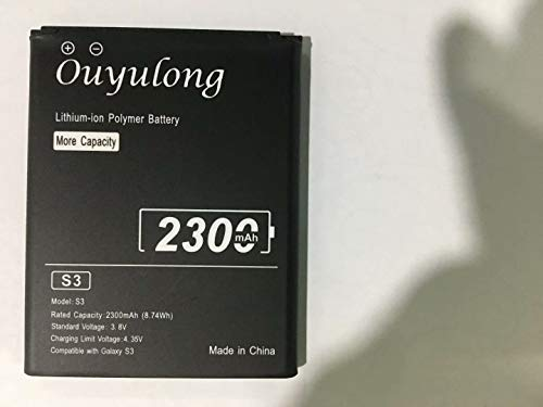 Ouyulong 2300mAh Galaxy S3 Akku, Kompatibel mit Modell Samsung Galaxy S3 EB-L1G6LLU Verizon I535 T-Mobile T999 Sprint L710 AT&T I747 R530 LTE I9305 S3 Neo