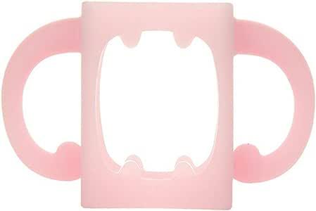 Rryilong Porte-biberon en Silicone Souple pour biberon r/ésistant /à la Chaleur Rose Bonbon