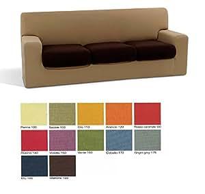 Copridivano 3 posti sofa cover in tessuto bielastico - Misure divano al ...