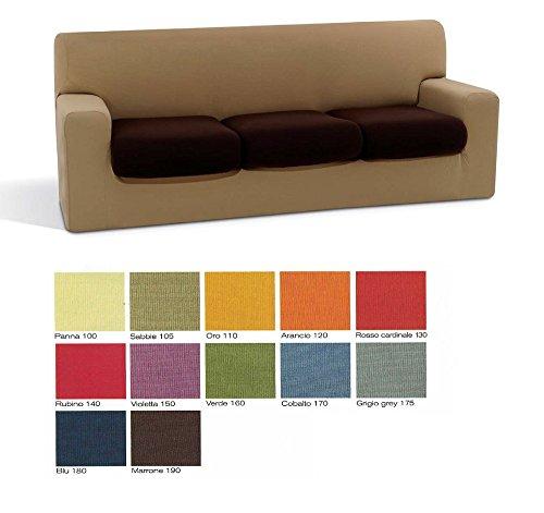 Copridivano 3 posti sofa cover in tessuto bielastico misure divano: da 180 a 240 cm col foto a scelta