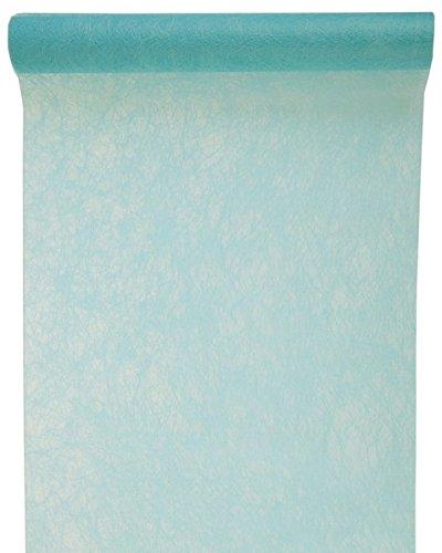 (Tischläufer Tischband 30cm x 5m mintgrün - Dekostoff - Dekoration zu Feiern - 3586)
