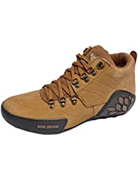 Woodland Men's Camel Outdoor Leather Combat Shoes(GC1869115CAM)