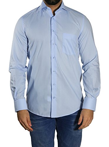 MUGA -  Camicia classiche  - Basic - Classico  - Maniche lunghe  - Uomo Mittelblau