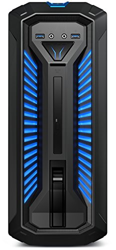 Medion Erazer P67006 Gaming Desktop PC (Intel Core i5-8400, 1000GB Festplatte, 256GB PCIe SSD, 16GB DDR4 RAM, NVIDIA GeForce GTX 1050 Ti mit 4GB GDDR5 VRAM, Win 10 Home) Schwarz