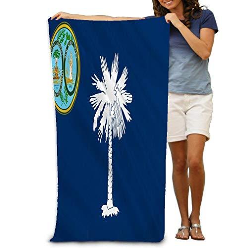 31x51 Inch High Absorbency Bath Towel Lightweight Large Bath Sheet for Beach Home Spa Pool Gym Travel Flag South Carolina State Southeastern Region Unit - South Carolina Pool