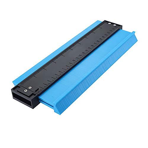 HERUNNA 25,4 cm Lineal, Konturlehre, Formreplikator Kantenformmaß, Holzbearbeitung, praktisches Werkzeug, für professionelle präzise Messung, blau