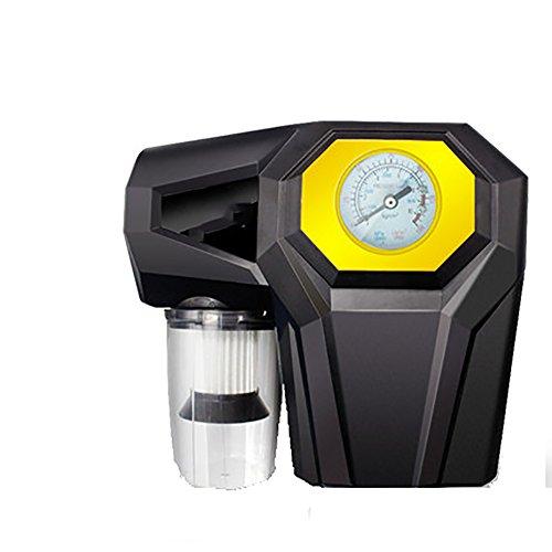 Q&F Auto reifen luftpumpe pumpe 12v dc mit notfall-led-licht Fahrrad auto reifen manometer Auto staubsauger Reifen-luftpumpe mit manometer-B
