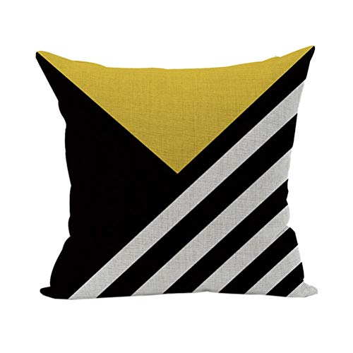 LanDu Einfacher Kissenbezug für Bett Farbe ergänzen 100% Polyester Plüsch Kissenbezug 45,7 x 45,7 cm -