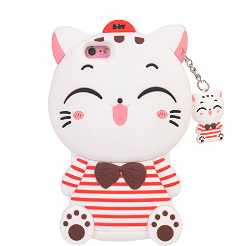 iPhone 6s Plus (5.5 inches) Coque,COOLKE Mode 3D Style Cartoon Gel Soft silicone Coque Housse étui Case Cover Pour Apple iPhone 6 Plus/ iPhone 6s Plus (5.5 inches) - 009 001
