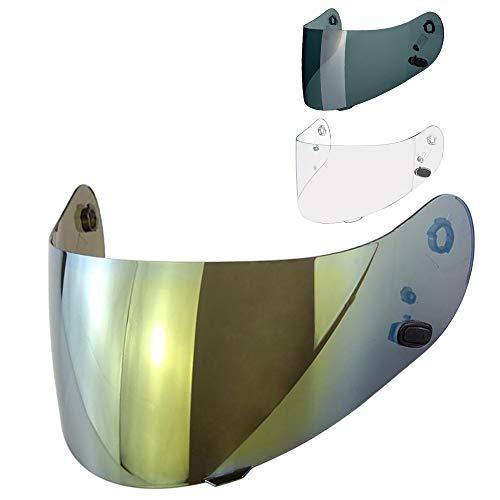 Visier Helm HJC CL-16 CL-17 CL-ST CL-SP CS-R1 CS-R2 CS-15 TR-1 FG-15 HS-11 FS-15 FS-11 Helmvisier Trasparent Dark Fume Spiegel Gold Aftermarket ( Gold Chrome )