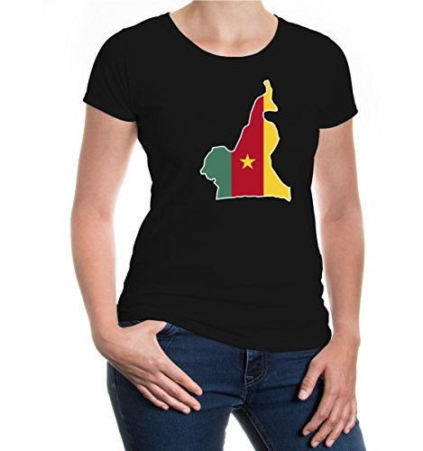 Girlie T-Shirt Kamerun-Shape-M-Black-z-direct