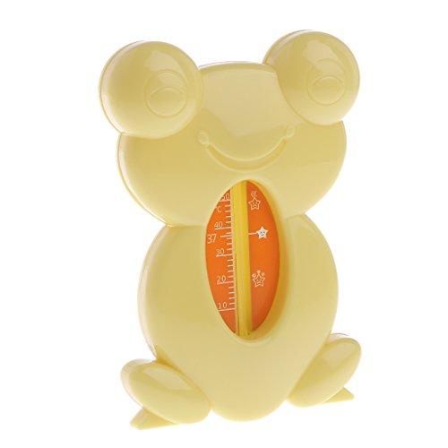 Lazder Badewannen-Thermometer Baby Kinder Bade-Wasser Temperatur Frosch (Gelb)