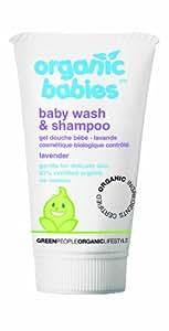 Organic Babies Baby Wash & Shampoo - Lavender (150ml)