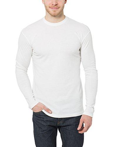 Lower East Herren Langarmshirt mit Rundhals-Ausschnitt, in Verschiedenen  Farben 5er Pack Weiß/ ...