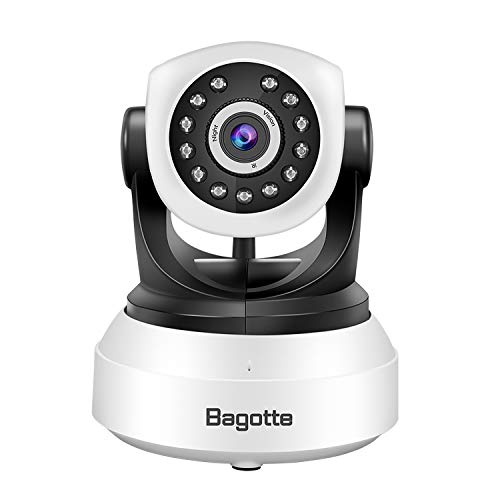 Bagotte HD 720P Telecamera Sorveglianza Wifi Interno, Videocamera IP Wireless Camera, Visione Notturna a Infrarossi , Audio Bidirezionale, Sensore di Movimento Pan/Tilt, Compatibile con iOS & Android - 3