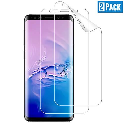 TOIYIOC [2 Stück] Schutzfolie für Samsung Galaxy S9, [Vollständige Abdeckung] Ultra-klar TPU Folie, Bildschirmschutzfolie kompatibel Samsung Galaxy S9