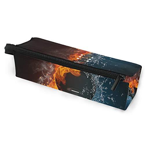 Sonnenbrille Fall Stift Federmäppchen Musik Kunst Gitarre Wasser Feuer Schreibwaren Beutel Aufbewahrungsbox Kosmetiktaschen Brillen Tasche mit Aufhängeöse