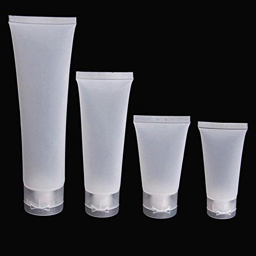 Lot de 5 tubes vides en plastique pour cosmétiques, crèmes, lotions, produits de beauté, idéals pour le voyage givré 50 ml