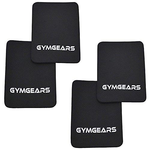 Griffpolster [4er Set] Grip Pads 3mm - Profi Neopren Griffpads für Fitness, Bodybuilding & Krafttraining in Schwarz - Alternative für Trainingshandschuhe - Für Frauen & Männer geeignet - 2 Jahre Gewährleistung