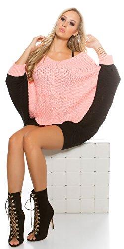 In-Stylefashion - Pull - Femme rose Rose foncé taille unique Rose foncé