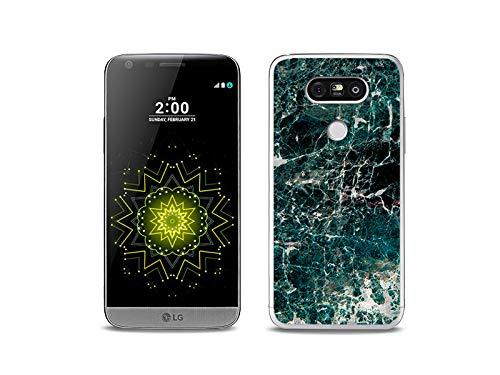 etuo Handyhülle für LG G5 SE - Hülle, Silikon, Gummi Schutzhülle - Grüner Marmor