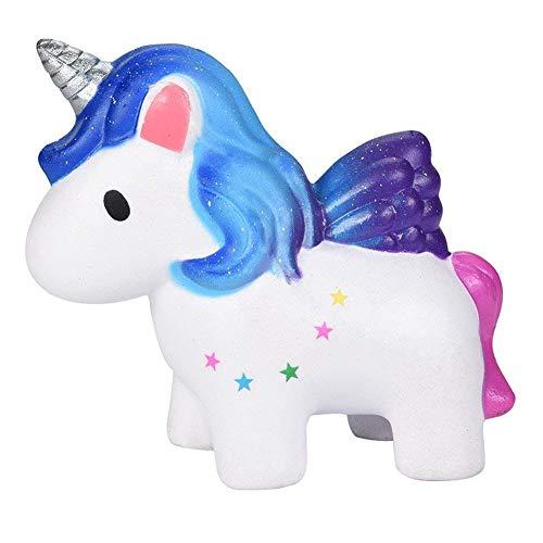 CDKJ 1 PC de Dibujos Animados Toy Lenta Rising Unicornio del Arco Iris de Kawaii Blando Lindo Pizca de Juguetes para los niños perfumado aliviar el estrés, Duradero Vistoso