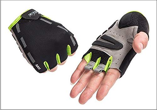 He-shop Guanti da Uomo Mezza Finger Fitness Manubri da Equitazione Mezza Finger Gloves Strada Mountain Bike Equipaggiamento da Equitazione Short Finger Gloves