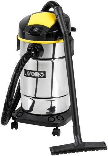 Lavorwash-Trenta-X-Aspiradora-1600-W-Aspiradora-de-tambor-Sin-bolsa-Negro-Acero-inoxidable-Amarillo-De-plstico-Telescpico