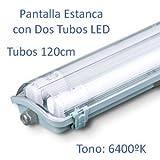 Pantalla Estanca con 2 Tubos LED 120cm (6400k)